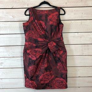 Jones Wear Dress Red Floral Dress